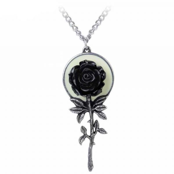 ALCHEMY GOTHIC  Luna Rose Full Moon Necklace